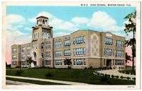 090220 VINTAGE WINTER HAVEN FL POSTCARD HIGH SCHOOL