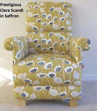 Prestigious Clara Scandi Fabric Adult Chair Mustard Armchair Saffron Yellow New