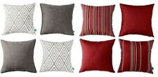 """Pillow Covers Set of 8 18""""x18"""" Cushion Cases for Couch Sofa Bedroom Living Room"""