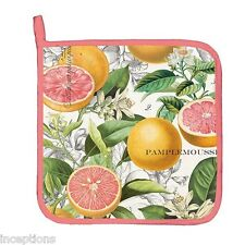 Michel Design Works Cotton Kitchen Potholder Pink Grapefruit - NEW