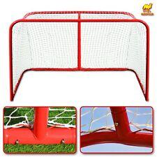 """72""""x48""""x30"""" ; Senior Hockey Elite Goal w Steel Tube Practice Regulation Net Sport"""