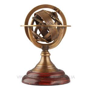 World Globe – Brass Armillary Zodiac (Mini) - Vintage World Australia