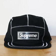 Supreme 5 panel Zig Zag Stitich Camp Cap Black Noire Casquette Box Logo Bogo