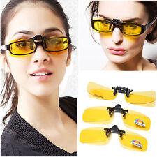 Glasses Gafas Clip-on Flip-up Polarizada Amarillas Vision Nocturna Conducción