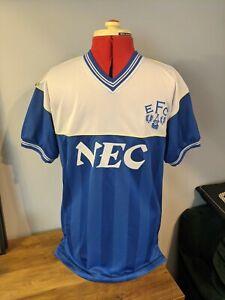 Everton Football Shirt 1986 Score Draw Remake S Small Retro Soccer Jersey