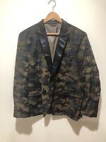 VanHeusen Studio Mens Suit Jacket 46R Camo Print RARE