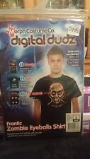 Morph Costume Digital Dudz Zombie Frantically moving Eyeball T-Shirt Size L  (B)