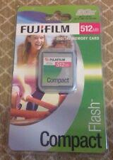 FUJIFILM Compact Flash Camera Memory Card 512MB NEW Vintage