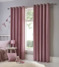 Cortinas color principal rosa 100% algodón