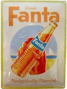 Fanta Bottle Beach large embossed metal sign 400mm x 300mm (na)