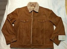 Scully Leather Jacket Men XXL Lambskin Leather Brown(Camel) Color Super Soft NWT