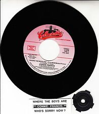 "CONNIE FRANCIS  Where The Boys Are & Who's Sorry Now? 7"" 45 rpm vinyl record NEW"