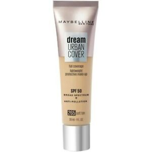 Maybelline Dream Urban Cover SPF50 All-In-One Protective Makeup, 265 Soft Tan