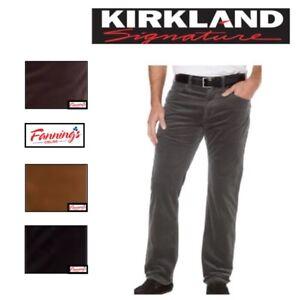 NEW! Men's Kirkland Signature 5 Pocket Corduroy Pants Standard Fit VARIETY E21