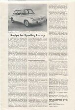 BMW 2000 Ti Lux Impressions from Good Motoring Single Sheet Not Dated