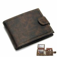 Leather PU Mens Wallet Luxury Designer Bifold Short Wallets Men Hasp Vintage New