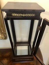 Bombay Company Cherry Mahogany Wood & Glass Table Top Display Case Curio Cabinet