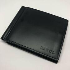 Brand New Raoul Black Men Leather Moneyclip Money Clip Wallet