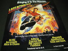 LAST ACTION HERO Movie Music BRINGS IT TO MASSES 1993 Promo Display Ad mint cond