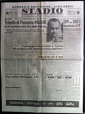 STADIO 11-4-1949 , TRIONFO DI FIORENZO MAGNI , CALCIO 31° GIORNATA SERIE A B C