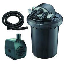 "1500 Gal 13W UV Bio Pond Pressured Filter, 530gph Pump, 20ft. 1"" ID Flex Tubing"