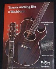 1982 Washburn Monterey Custom Studio acoustic electric guitar photo print Ad
