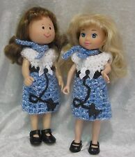 Made to fit MADELINE #15 Crochet Poodle Dress & Scarf Set, Handmade doll clothes