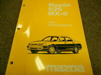 1996 MAZDA 626 MX-6 MX6 Electrical Wiring Diagram Service Repair Shop Manual 96