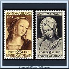 1954 Italia Repubblica Anno Mariano n. 751/752 **