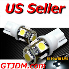 HID White T10 5 SMD LED Parking Lights Motorcycle Bike 168 194 2825 2827 W5W