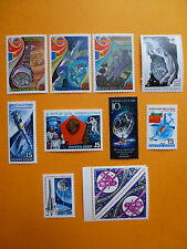 LOT 5226 TIMBRES STAMP AERONAUTIQUE ESPACE RUSSIE RUSSIA ANNEE 1981 - 1989