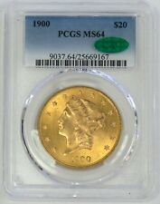 1900 GOLD $20 LIBERTY HEAD DOUBLE EAGLE COIN PCGS MINT STATE 64 CAC