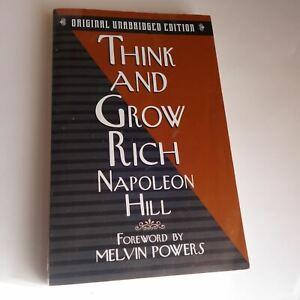 THINK AND GROW RICH 1999 Business Self Help Personal Development Finance RARE PB