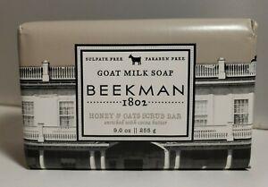Beekman 1802 HONEY & OATS SCRUB BAR GOAT MILK SOAP FULL SIZE 9oz Exfoliates