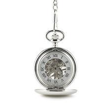 Reloj De Bolsillo Esqueleto Mecánico Estilo Vintage