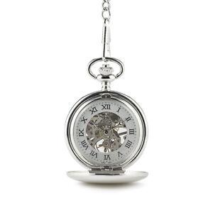 Pocket Watch Vintage Style Mechanical Skeleton