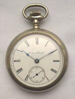 Hampden 18s Full Plate Pocket Watch – Good Working Order