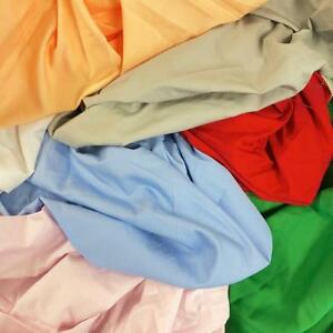 """100% Cotton Broadcloth Fabric 59"""" Wide Solid Colors Apparel Garment Per Yard"""