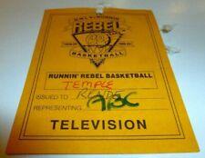 1988 UNLV VS TEMPLE BASKETBALL TV PASS ABC SPORTS COOL BEYOND RARE!