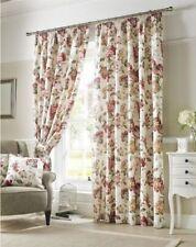 Rideaux et cantonnières rose à motif Floral pour la maison