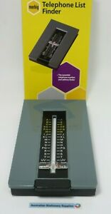 Marbig Telephone Index List Finder Teledex Grey free tracked delivery in stock