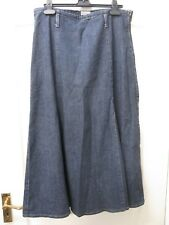 Per Una Denim Maxi Skirt Sz 14 R Winter Blue Casual Marks Spencer M & S Stretch