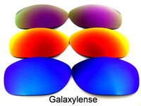 Galaxy Replacement Lenses For Oakley Pit Bull Blue&Red&Purple Polarized 3 Pairs