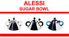 More details for alessi sugar bowl & spoon (black, white ivory or blue) 9097 free delivery