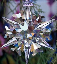 SWAROVSKI Annual  Ornament 2002 Brand New Mint In Box Includes Certificates