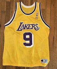 Vtg Nick Van Exel Los Angeles Lakers  9 Champion NBA Jersey 48 90s XL Yellow 6f4c0e6db