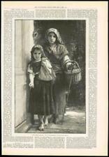 1890 Antique Print - FINE ART PICTURE LITTLE TRAMPS BOUGUEREAU FRANCE PARIS (229