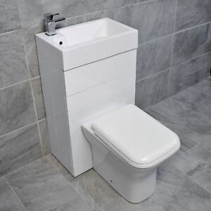 All In One Space Saving Toilet + Sink Basin Combination Unit Cloakroom En-Suite