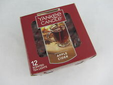 Yankee Candle APPLE CIDER Tealights Box of 12 Fall Scent Spice ~ NEW
