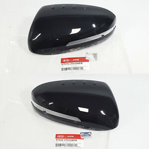 Genuine Oem Side Mirror Cover Black Left Right 2EA-1SET For Kia Optima 2011-2015